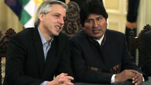 El presidente boliviano, Evo Morales enfrentaba el jueves 6 de octubre de 2011 el primero de dos  días de protestas de sindicatos obreros que reclaman mejoras salariales.
