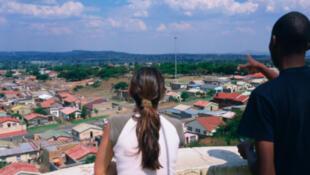 Vue générale d'un quartier de Soweto, en Afrique du Sud.