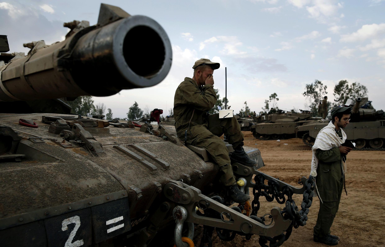 Tankokin yakin Isra'ila akan iyaka da Gaza