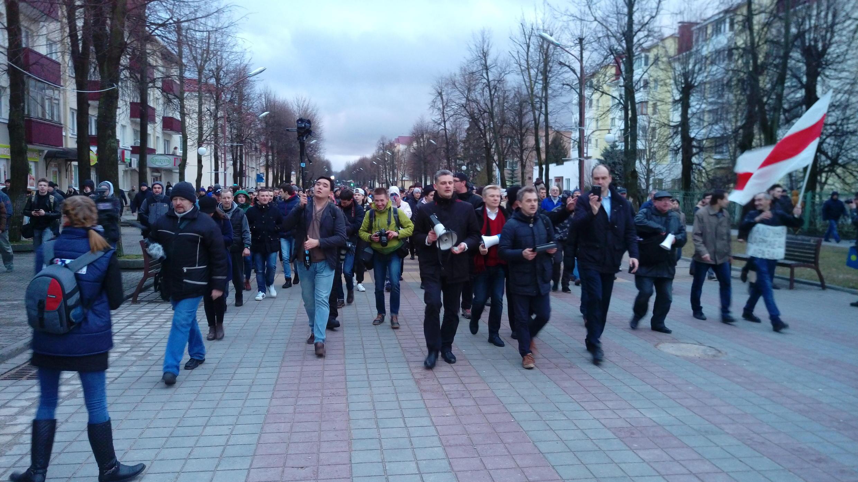 Марш против «налога на тунеядцев» в Молодечно