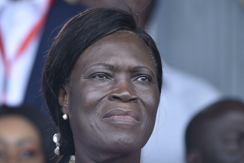 Simone Gbagbo à un meeting à Abidjan