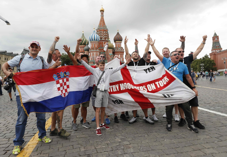 Antes del partido Inglaterra-Croacia este miércoles 11 de julio de 2018.