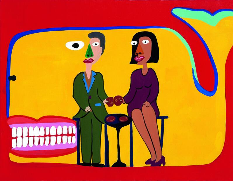 Beat Takeshi Kitano, Acrylic paint on canvas