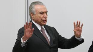 El presidente interino brasileño, Michel Temer.