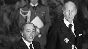 La France de Valéry Giscard d'Estaing (d) demandera au Maroc du roi Hassan II (g) de lui prêter main forte pendant les deux «guerres du Shaba» en 1977 et 1978.