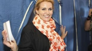 Helle Thorning-Schmidt, aged 44, Denmark's first-ever woman premier