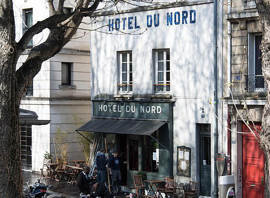 Paris's historic Hotel du Nord restaurant on the Canal St Martin.