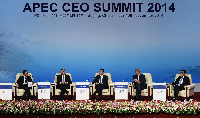 Ouverture du sommet de l'Apec, ce lundi 10 novembre 2014 à Pékin.