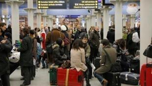 Gare de St-Pancras, à Londres, le 20 décembre 2009.