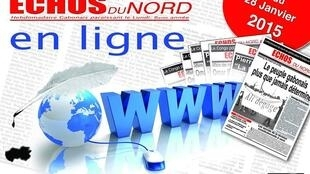 Capture d'écran du site internet du journal gabonais Echos du Nord.