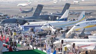 Une vue du salon aéronautique de Dubaï.