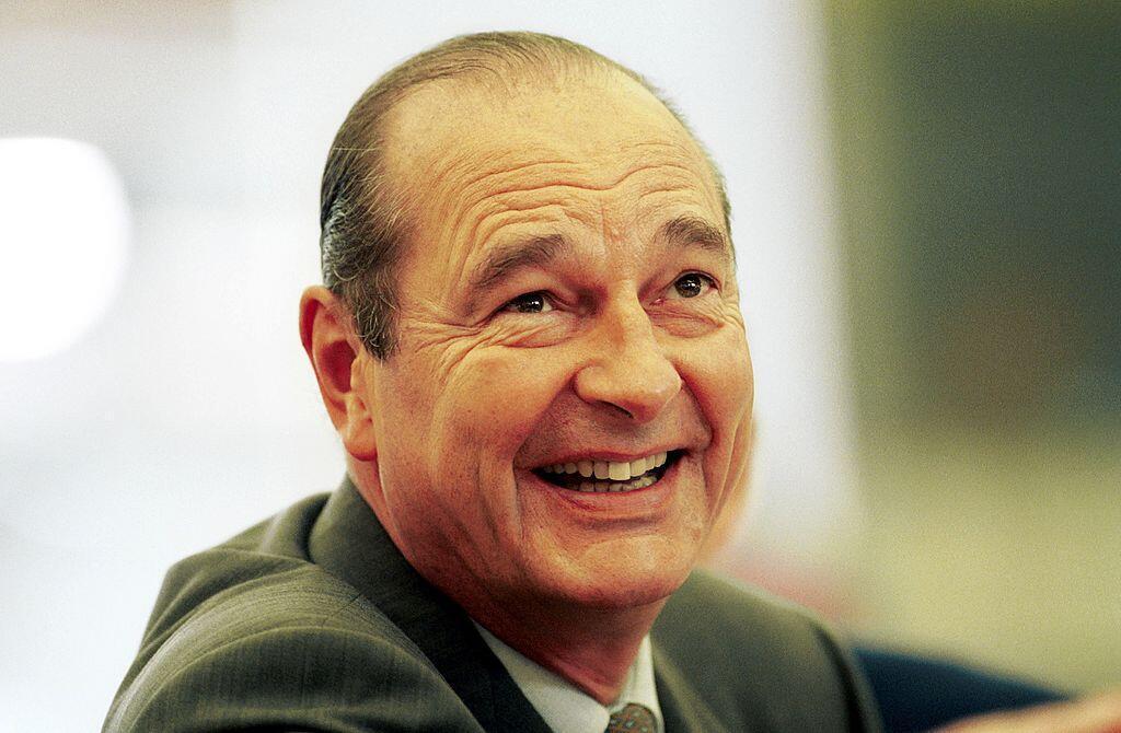 Jacques Chirac, en novembre 1996, durant son premier mandat de président de la République, un septennat.