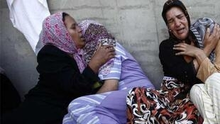 Women at the funeral of a rebel fighter in Misrata on Tuesday