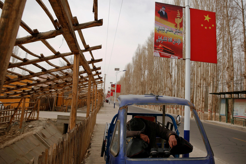 中國新疆維吾爾自治區和田附近的吉亞村 2017年3月21日