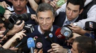 Candidato da oposição argentina, Mauricio Macri.