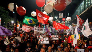 Zanga zangar adawa da tsige Dilma Rousseff da kuma adawa da shugaba Michel Temer.
