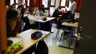 Reabertura das escolas para o terceiro ciclo e ensino secundário (fotografia ilustrativa).