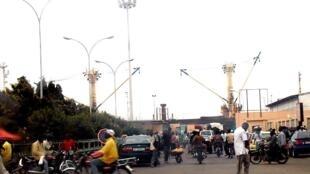 Entrée du port de Cotonou au Bénin.