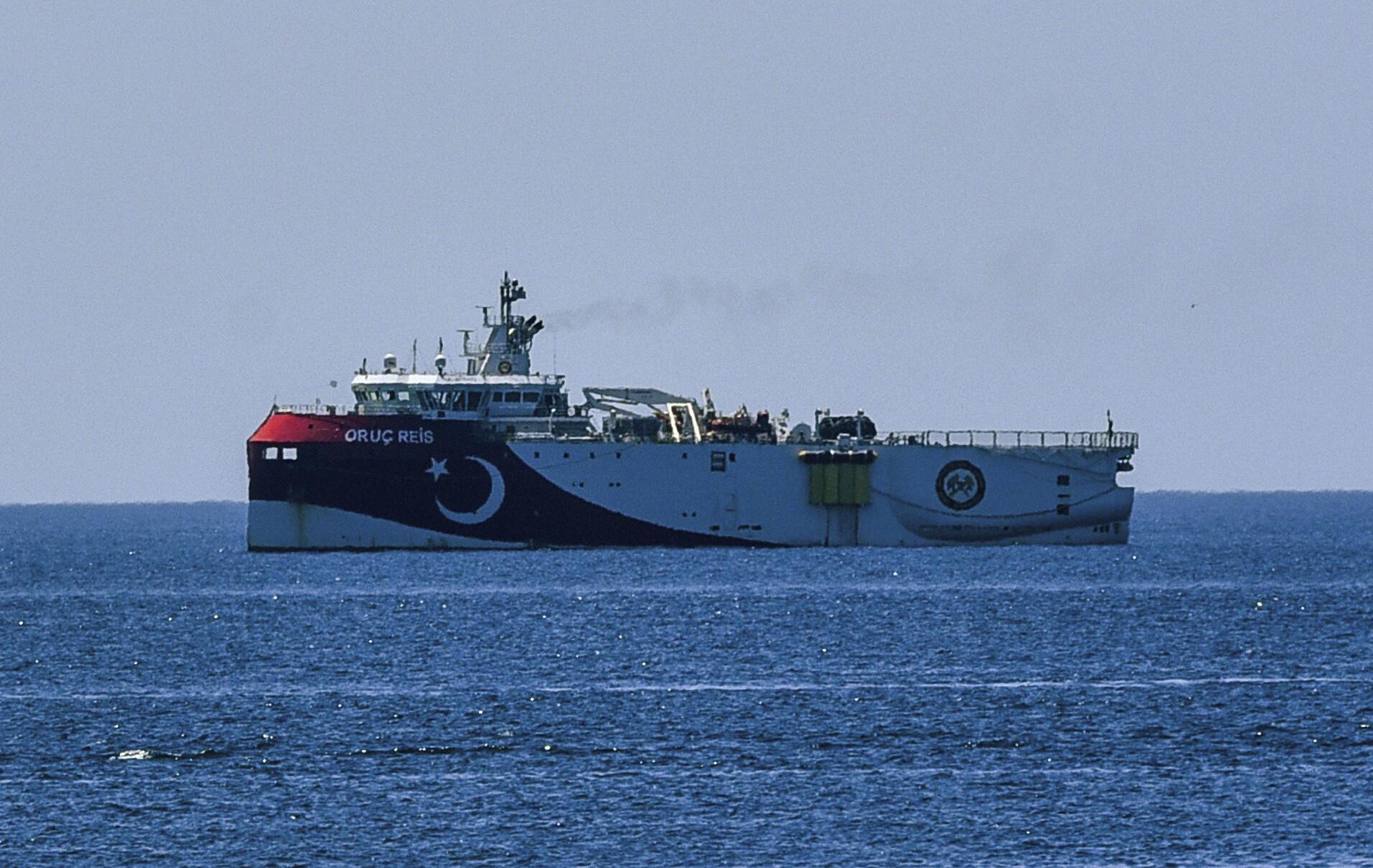 Tàu khảo sát Thổ Nhĩ Kỳ «Oruc Reis», ngày 22/07/2020, tại một khu vực ở đông Địa Trung Hải.