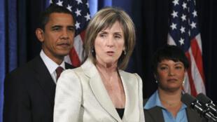 Carol Browner, coordinatrice spéciale pour le climat et l'énergie du gouvernement Obama.
