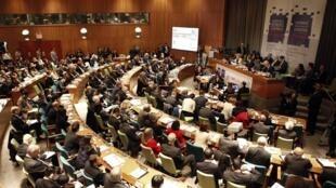 Organisée par l'ONU et les États-Unis, avec le gouvernement haïtien, la Conférence internationale des donateurs vers un nouvel avenir pour Haïti est co-présidée par le Brésil, le Canada, l'Espagne, la France et l'Union européenne.