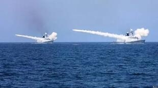 图为疑似解放军海军在福建附近海域军演图