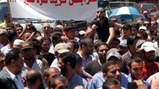 Masu zanga-zanga a birnin Tripoli