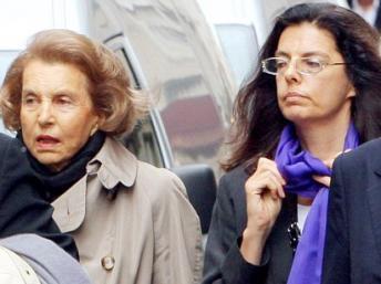 Lilianne Bettencourt with daughter Françoise Bettencourt-Meyer
