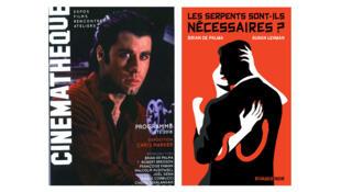 L'affiche de la rétrospective cinéma de Brian de Palma à la Cinémathèque de Paris (à. g.) et la couverture de son livre : Les serpents sont-ils nécessaires ?