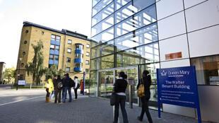 Le campus de l'université de Queen Mary, dans l'est de Londres qui compte 20 000 étudiants.  12 % des étudiants sont des ressortissants européens.