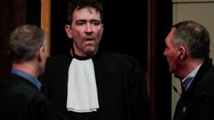 Sebastien Courtoy, advogado de Mehdi Nemmouche, no tribunal de Bruxelas, em 12 de março de 2019.
