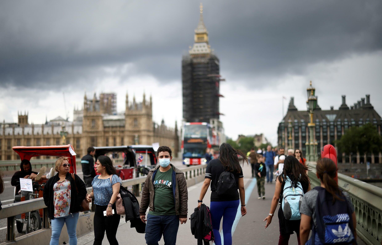 Em Londres, mais de um terço da população ainda não tomou a primeira dose da vacina contra a Covid-19.
