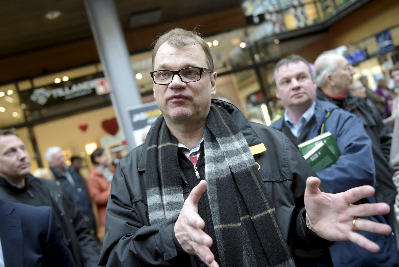 Глава центристов и возможный будущий премьер-министр Финляндии Юха Сипиля