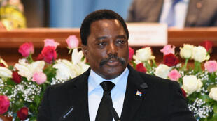 DRC President Joseph Kabila, delivers his address to the nation at the People's Palace in Kinshasa, Wednesday April 5 2017