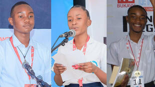 Le Club RFI - lauréats concours d'éloquence - Grands Lacs - Ephraim Wamba_Cito Danette_Benjamin Sefu