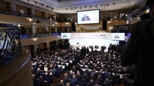 Ông Wolfgang Ischinger, chủ tịch Hội nghị an ninh Munich, Đức đang phát biểu tại hội nghị, ngày 16/02/2018.