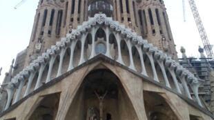 Basílica Sagrada Família de Barcelona, que homenageou, este domingo, vítimas dos atentados terroristas desta semana em Espanha