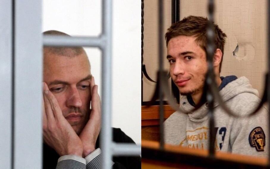 Украинские заключенные в РФ Станислав Клых (слева) и Павел Гриб