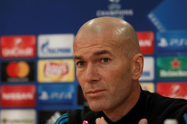 O técnico do Real Madrid, Zinedine Zidane.
