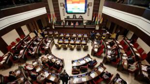 Réunion du Parlement du Kurdistan irakien à Erbil, le 15 septembre 2017.