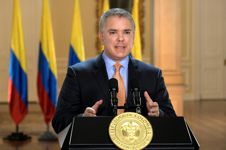 """""""Miili tisa imepatikana,"""" Rais wa Colombia Ivan Duque amesema katika hotuba kwenye televisheni."""