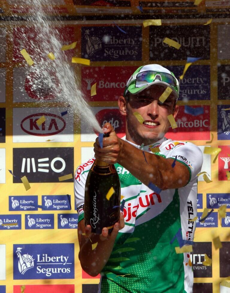 Maxime Daniel no final da 6ª etapa da Volta a Portugal