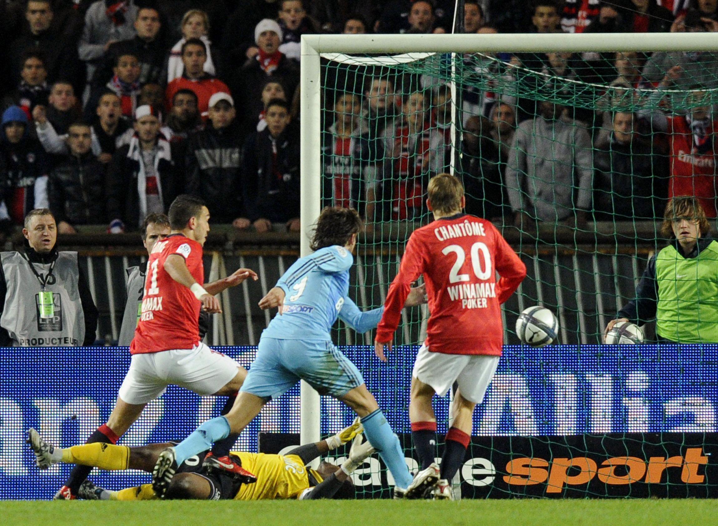 Vitória do PSG, o paris Saint Germain contra o Olympique de Marselha, por dois a um.