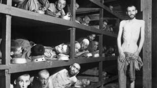 Prisonniers de Buchenwald, lors de la libération du camp.