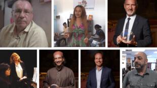 Les sept lauréats des 8e Trophées des Français de l'étranger 2020.
