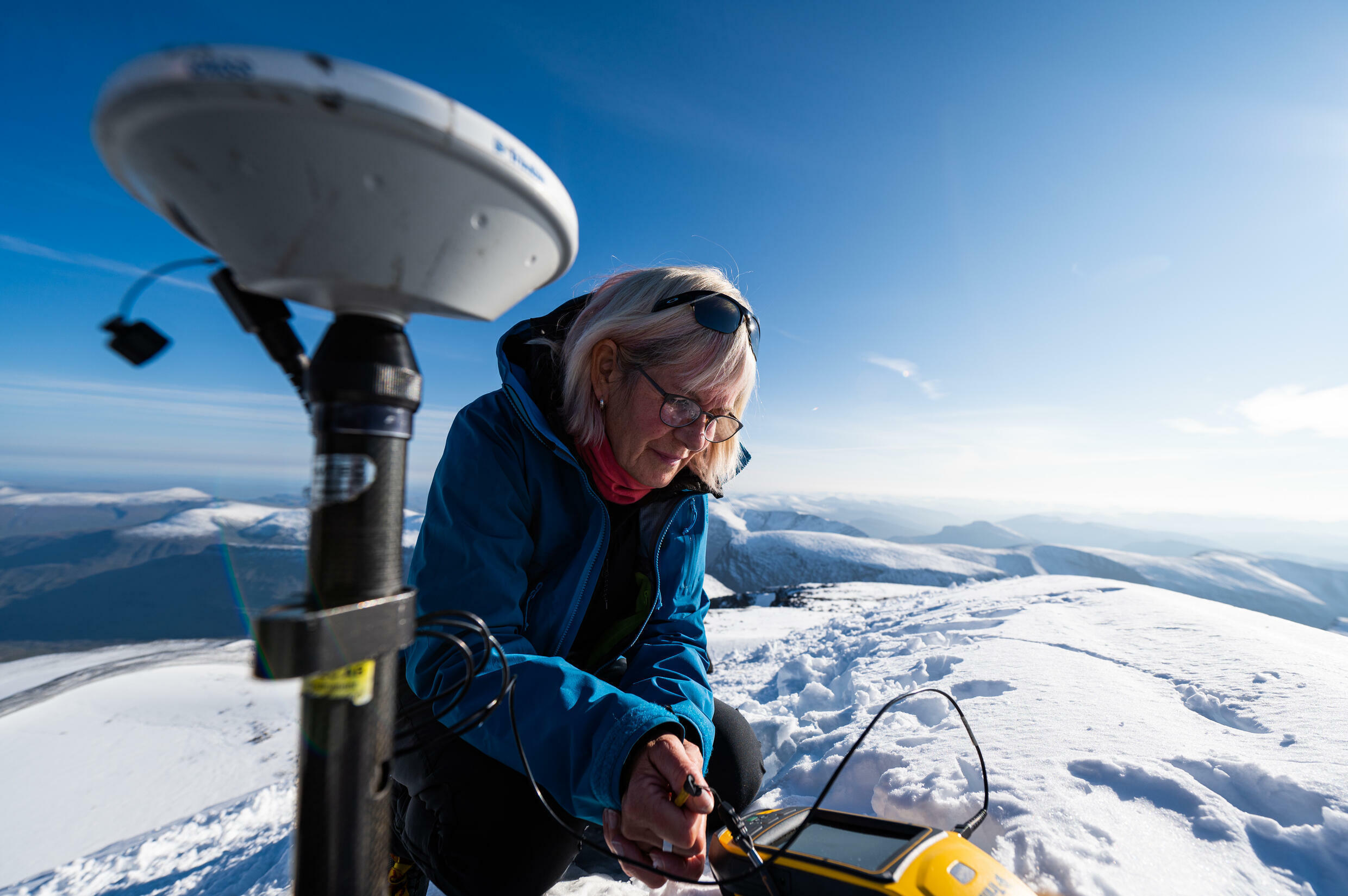 Glacial researcher Ninis Rosqvist, 61, sees the impact of a warming climate first-hand on the south glacial peak of the Kebnekaise massif