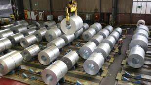 Une installation de stockage et de distribution du sidérurgiste allemand ThyssenKrupp à Duisburg en Allemagne, le 30 janvier 2020 (image d'illustration).