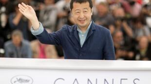 Đạo diễn Trung Quốc Giả Chương Kha tại Liên hoan điện ảnh Cannes, Pháp, 12/05/2018.