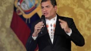 厄瓜多尔总统候选人、卸任总统拉斐尔・科雷亚
