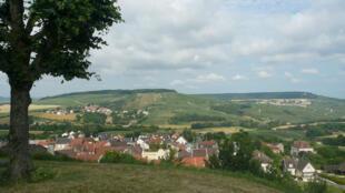 Paisagens da Região francesa da Champagne-Ardennes.
